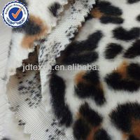 animal printed plush velboa fabric