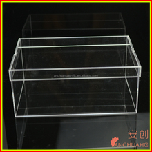 clear shoe box with drawer
