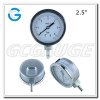 High quality all stainless steel pressure gauge with special connection