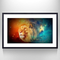 Stretched Canvas Painting With Lion Portrait Picture Home Decor Canvas Art Abstract Picture Art For Wall Decor