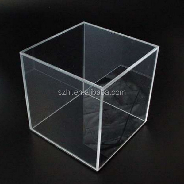 Stackable cube acrylic display storage box 12x12