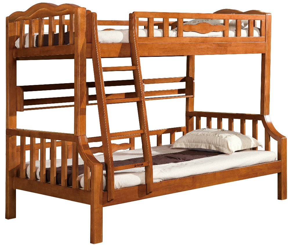 Hot sale modern solid wooden furniture kid children decker bunk bed 8602