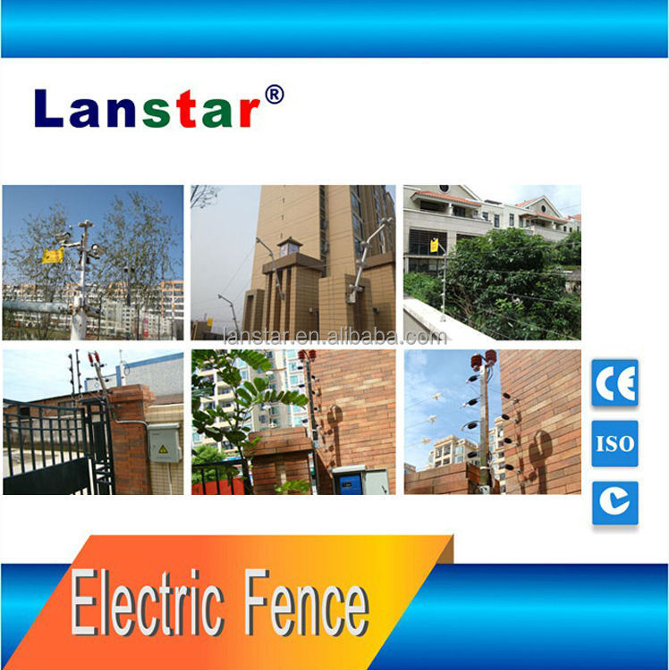 Touching alarm electric fence systemtem,six wires security fence for home yard