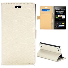 Cloth Texture Flip Stand Leather case for blackberry z3 with Magnetic