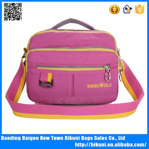 Factory price new ladies nylon waterproof shoulder hand bag