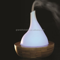 2015 new bamboo and glass air aromatherapy purifier ultrasonic humidifier