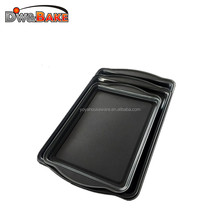 High quality carbon steel Baking Cake Cookie sheet pan/Nature Biscuit Pan with handle