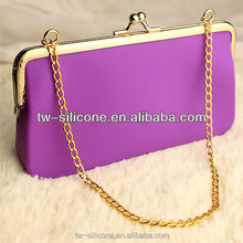 metal chain money purse ladies' silicone money bag varieties shopping money bag