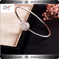 Daihe hot fashion elegant 925Sterling Silversparkle cuff bangle bracelet jewelry gift for ladies