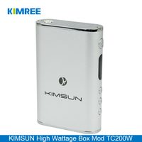 KIMSUN 2016 New Arrival Wholesale E-cigarette 200W Rechargeable Battery Vapor Box Mod with Temperature Control and Power Bank