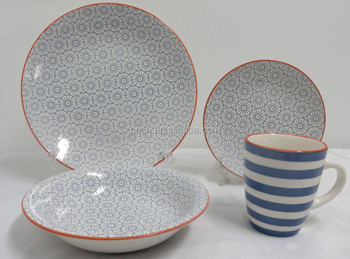 New Dinnerware 16pcs Dinner Set Vajilla With Transfer Printing