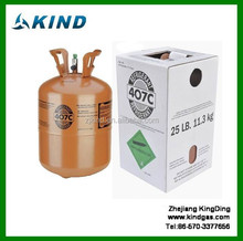 Industrial grade high quality Environmental Refrigerant air conditioner gas R407c