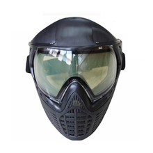 Full Face Protection anti fog fit glasses paintball mask with goggles