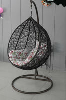hot sale outdoor/indoor PE rattan/wicker swing egg chair