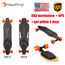 US warehouse stock Maxfind electric motorized skateboard boosted cheap