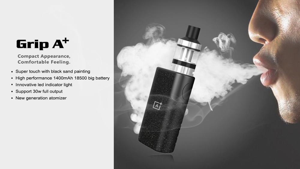 2017 sbody made newbest mini box mod Grip A+ electronic cigarette single 18500 battery starter kit fashion