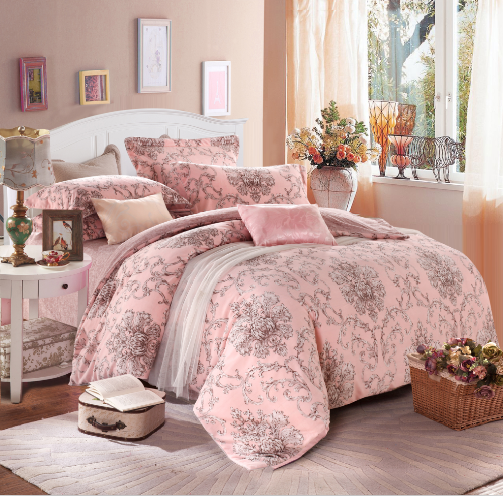 Pink comforter cover set pile height 2.5 mm Bedding sets