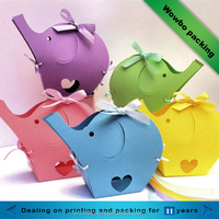 cute colorful decorative elephant shaped chocolate candy box