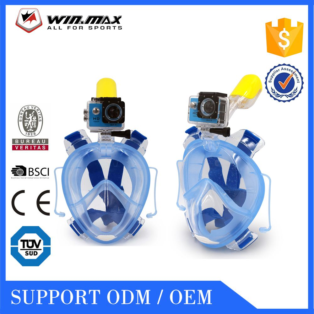 Full face snorkel mask silicone diving musk snorkel