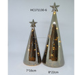 Hot selling home decorative Silver Mercury Handmade Glass Christmas Tree with LED Lighting