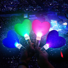 Concert Party Supplies Colorful Battery Operated Led Glow Stick Heart shape Led Stick