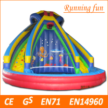 24'H commerical giant large inflatable pool slide, inflatable hurricane water slide