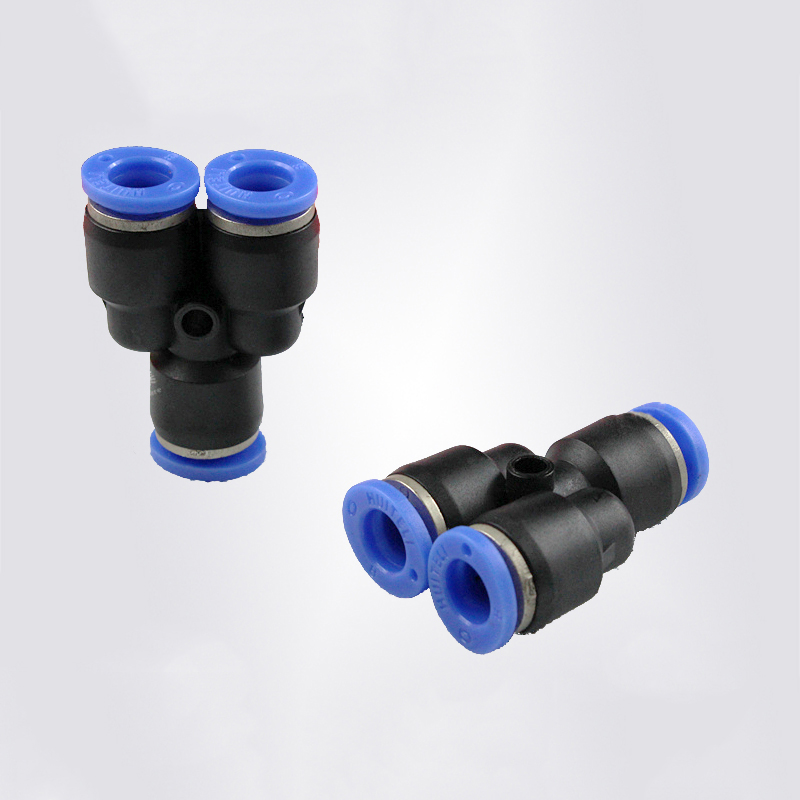 plastic three way connector 45 degree y branch pipe fitting lateral tee