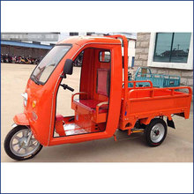 1500mmx1000mm size 1000W small electric 3 wheel dump truck with open cabin