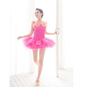 hot pink ballet stage costume little girl lovely dance costume elegant dance wear