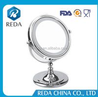 LED lighting modern dressing table mirrors / Round LED desktop makeup mirorr / standing table mirror with lights