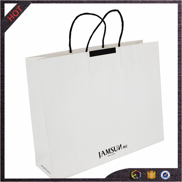 imported from china wholesale plain white paper bags with handles