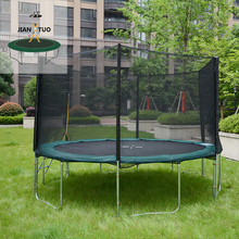 JianTuo Sports 2m 3m 4m 5m Jumping Outdoor Big Round Trampoline With Enclosure