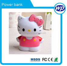 Cute Hello Kitty Fast Charging PowerBank Battery Pack Backup Fashion 5voltPower Bank for Smartphone