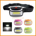 SOS 3 Mode AAA Battery Powered Cob Led Headlamp for Cycling Camping Mining Fishing