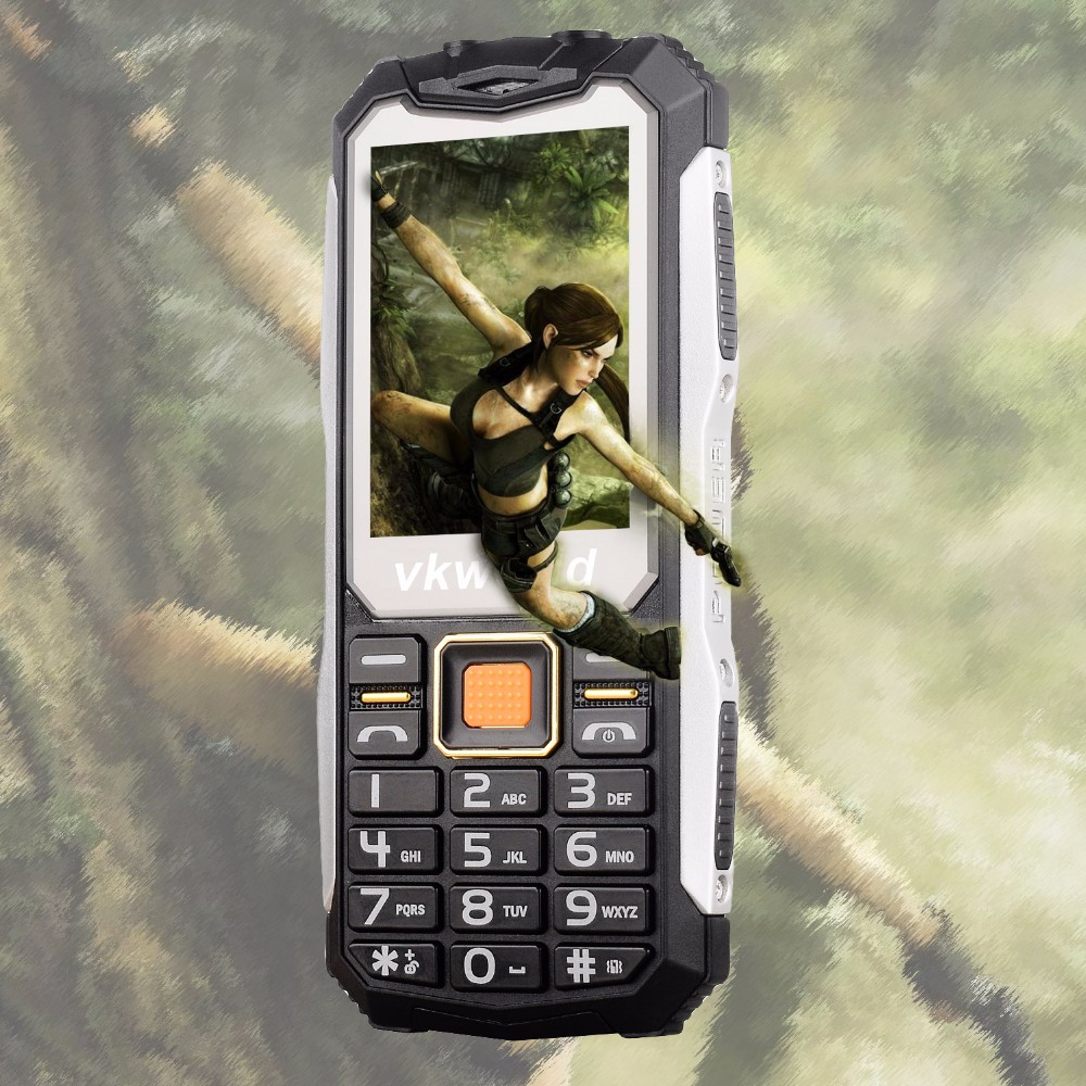 VKWORLD Stone V3S 2.4inch Long Time Standby Multi Language GSM Rugged Elder Fashioned Cheap Camera Keyboard Mobile Phone Price