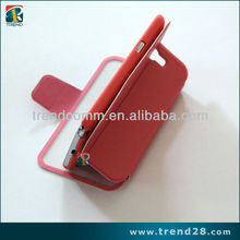 High quality wallet bag kickstand design pc + leather phone case for Samsung galaxy note 2(n7100)
