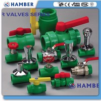 wholesale 1.5 inch ball valves ppr butterfly valve irrigation green plastic ppr ball valve