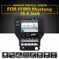 10.4 inch tft lcd monitor touch display screen android gps navigation for Ford Mustang with dvd player gps radio audio
