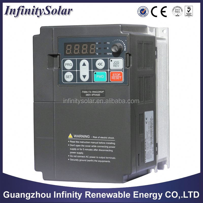 frequency transformer water pump variable speed controllers water pump inverter three phase 220V 1500W