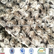 Two Tone Screw Flower Warp Knitting Velboa/PV Rose Fabric for Baby Cloth