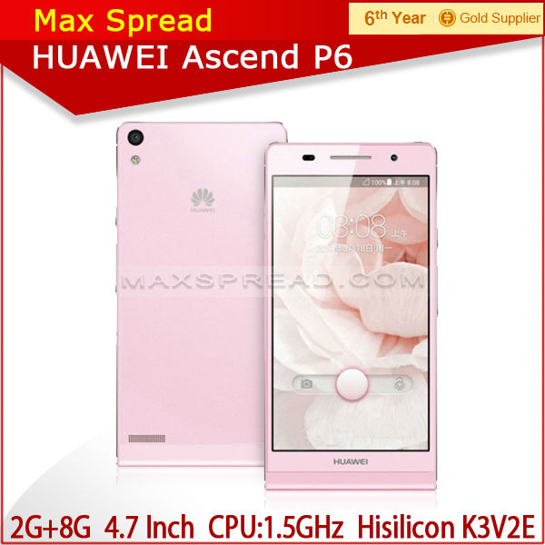 "New arrvial Mobile Phone HuaWei Ascend P6 4.7"" HD Capacitive Screen hua wei"