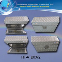 HOT selling 1.5mm silver aluminum pickup truck tool box
