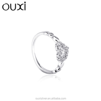 heart shaped engagement ring , cz ring,crystal ringY70048