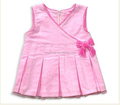 3 Year Old Girl Dress Pink with Bow Design Ruffle