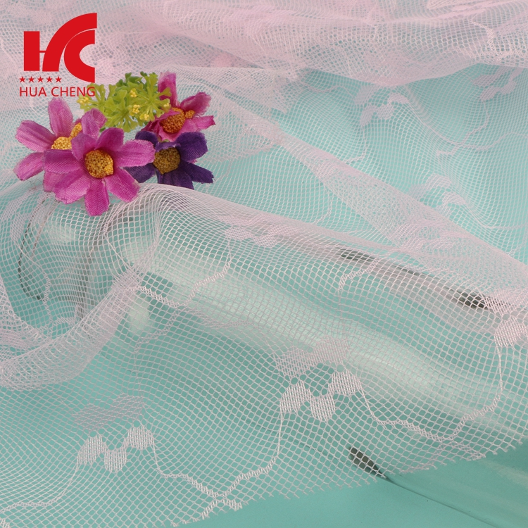 100 Polyester Jacquard Breathable Mosquito Raschel Net Fabric