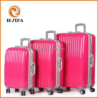 20/24/28 Inch Great Aluminum Frame PC Trolley Luggage Travel Set,Elegant Luggage Travel Case Bag