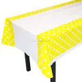 partysupplier Yiwu Wholesale YELLOW Polka Dots Table Cover Tablecloth POLKA DOT PLASTIC TABLECOVER DECOR TABLECLOTH