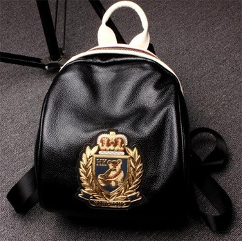 Wholesale real leather fashion girl backpack, Cute mini backpack bag for lady