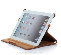 New fashion Crazy Horse laptop genuine leather case cover for ipad 2 3 4 with good quality