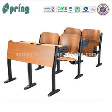 attached school desks and chair CT-208